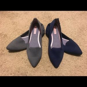 Two Pairs of Giesswein Pointed Flats